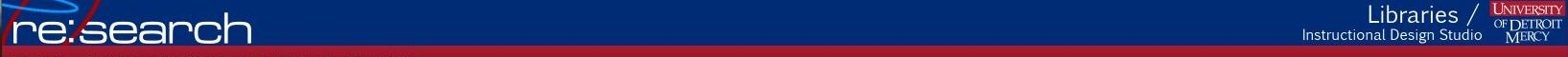 UDM Libraries logo banner
