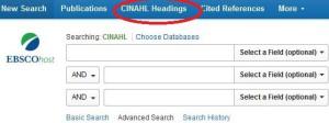 CINAHL Headings